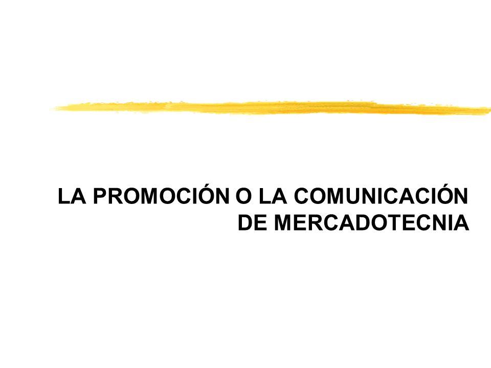 LA PROMOCIÓN O LA COMUNICACIÓN DE MERCADOTECNIA