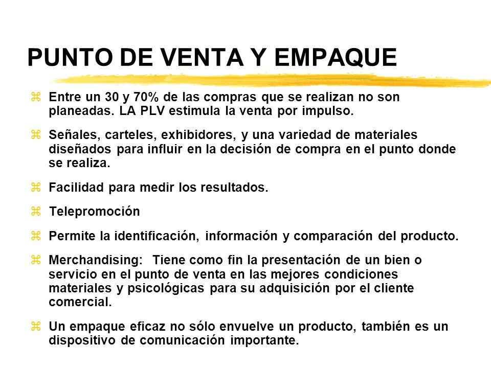 PUNTO DE VENTA Y EMPAQUE