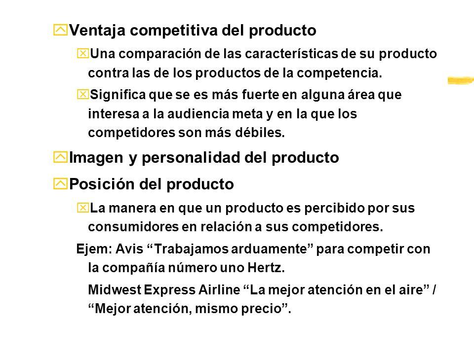 Ventaja competitiva del producto