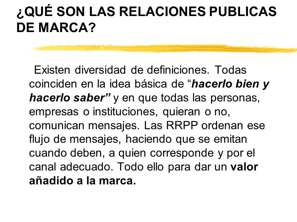 ¿QUÉ SON LAS RELACIONES PUBLICAS DE MARCA