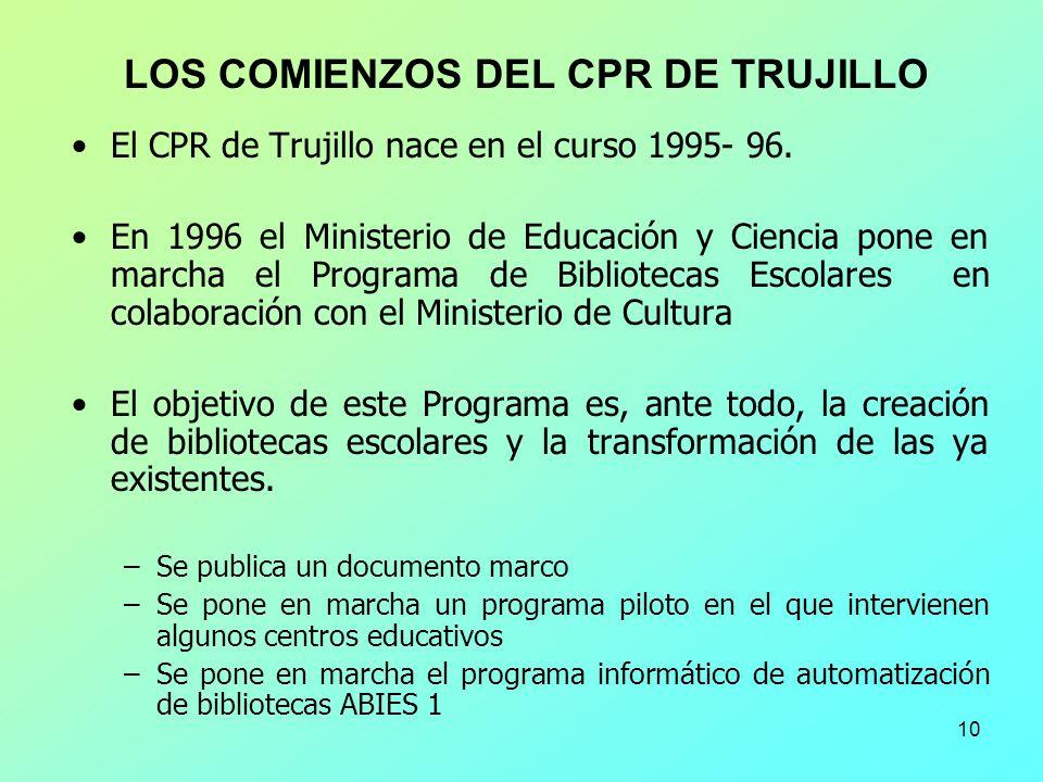 LOS COMIENZOS DEL CPR DE TRUJILLO