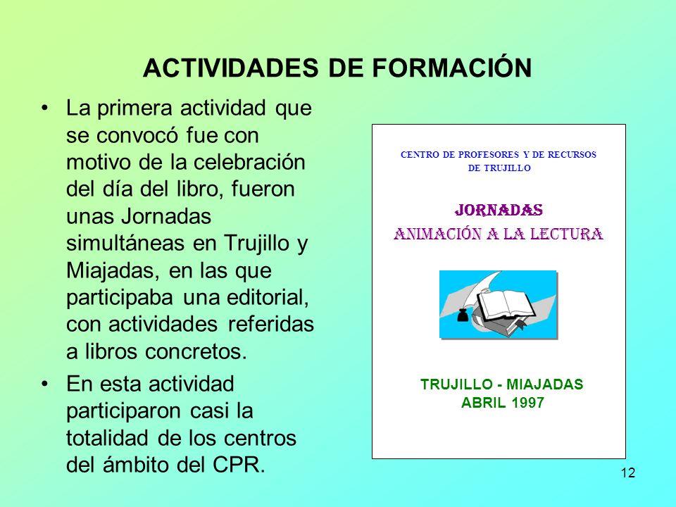 ACTIVIDADES DE FORMACIÓN