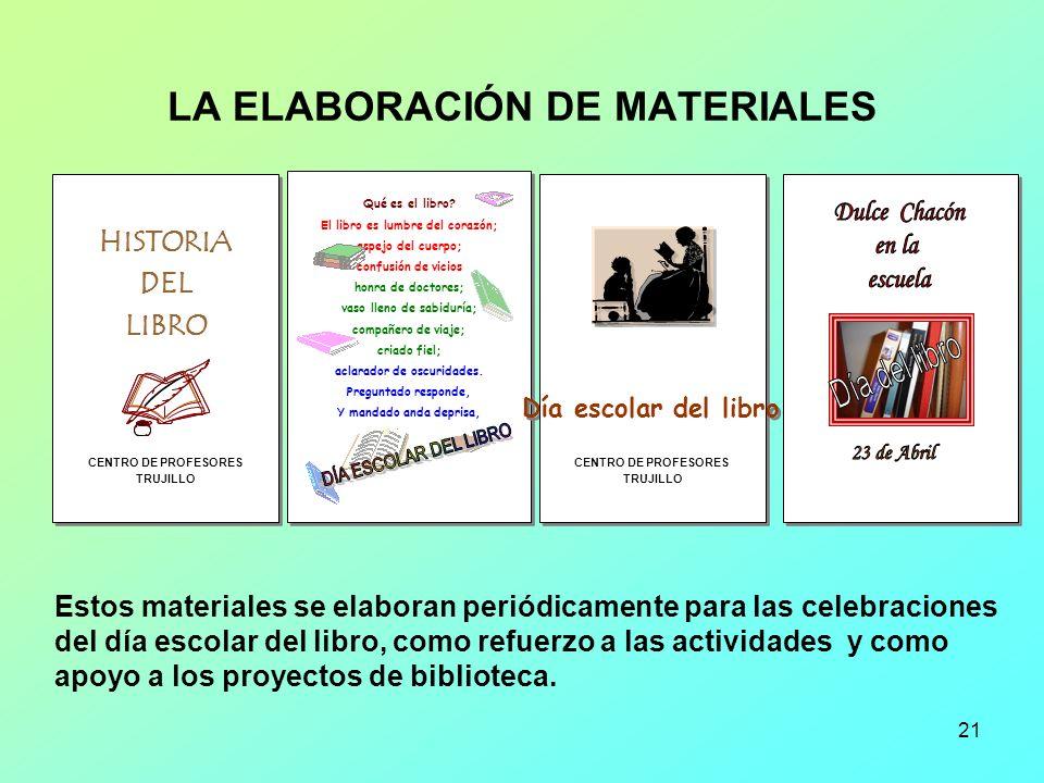 LA ELABORACIÓN DE MATERIALES