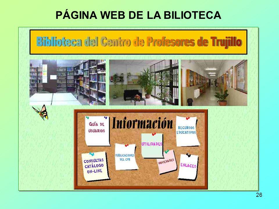 PÁGINA WEB DE LA BILIOTECA