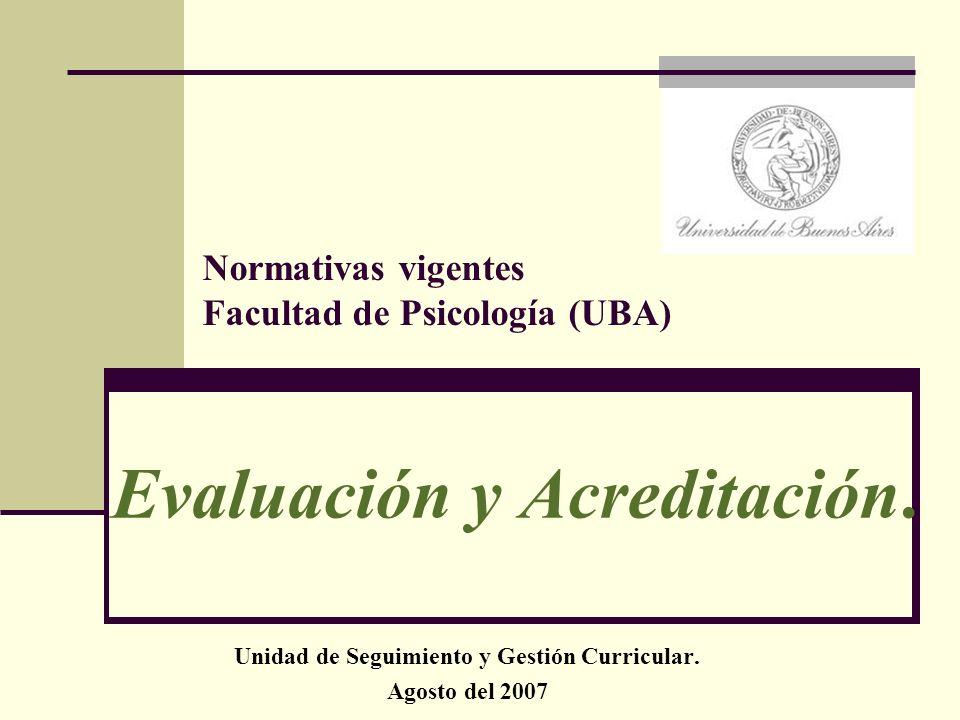 Evaluación y Acreditación.