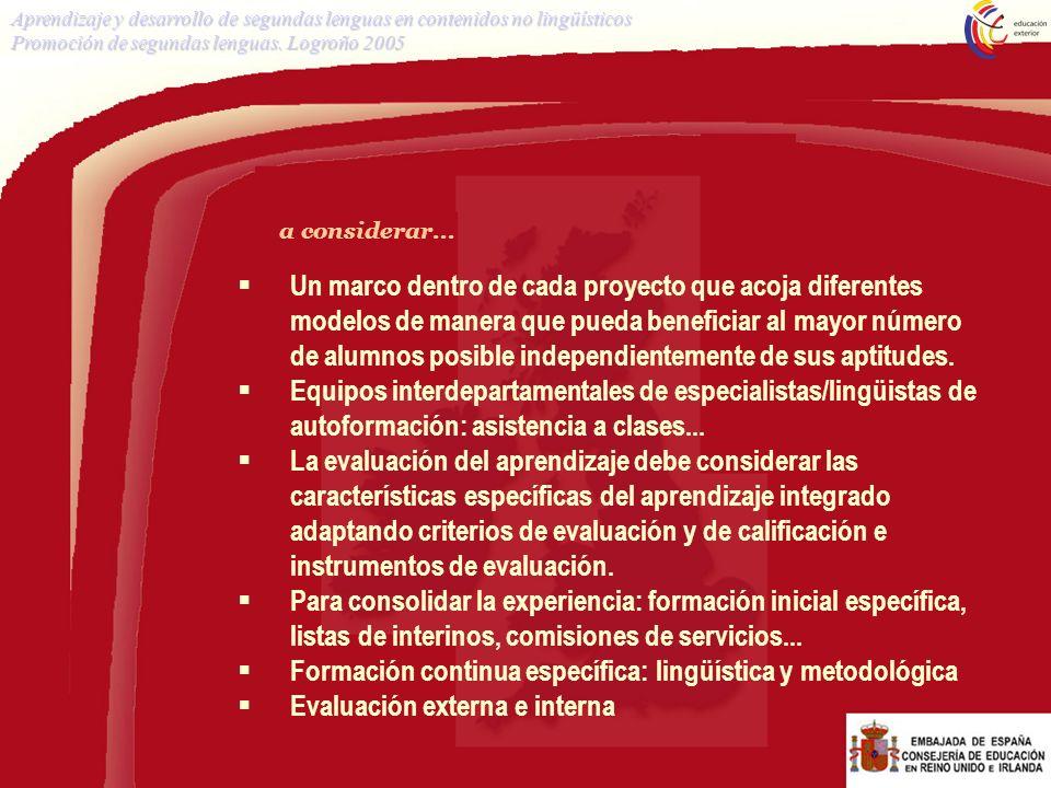 Formación continua específica: lingüística y metodológica