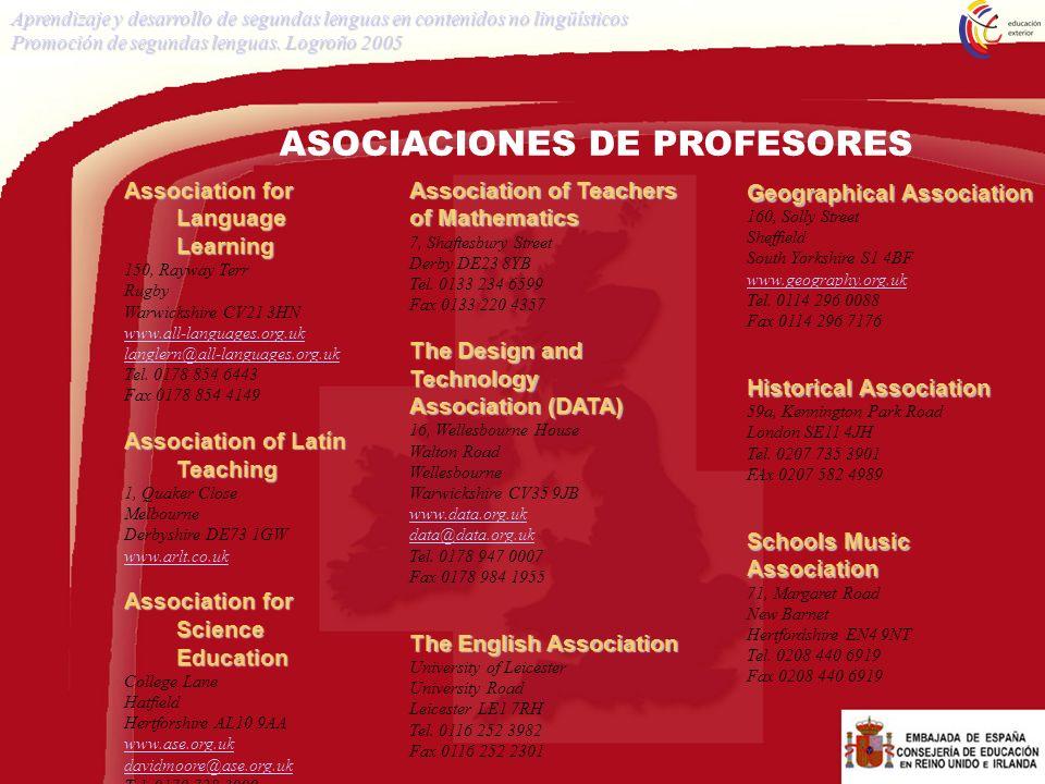 ASOCIACIONES DE PROFESORES