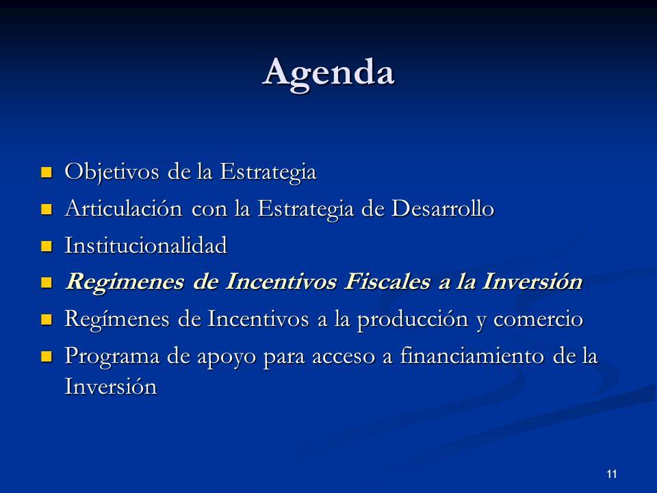 Agenda Objetivos de la Estrategia