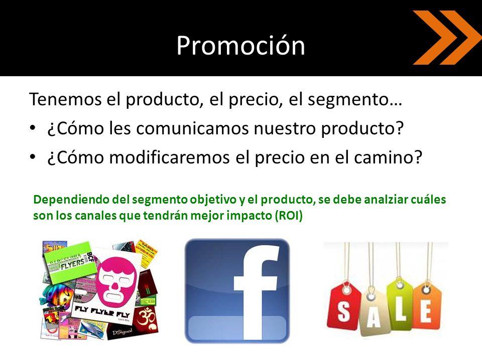 Promoción Tenemos el producto, el precio, el segmento…