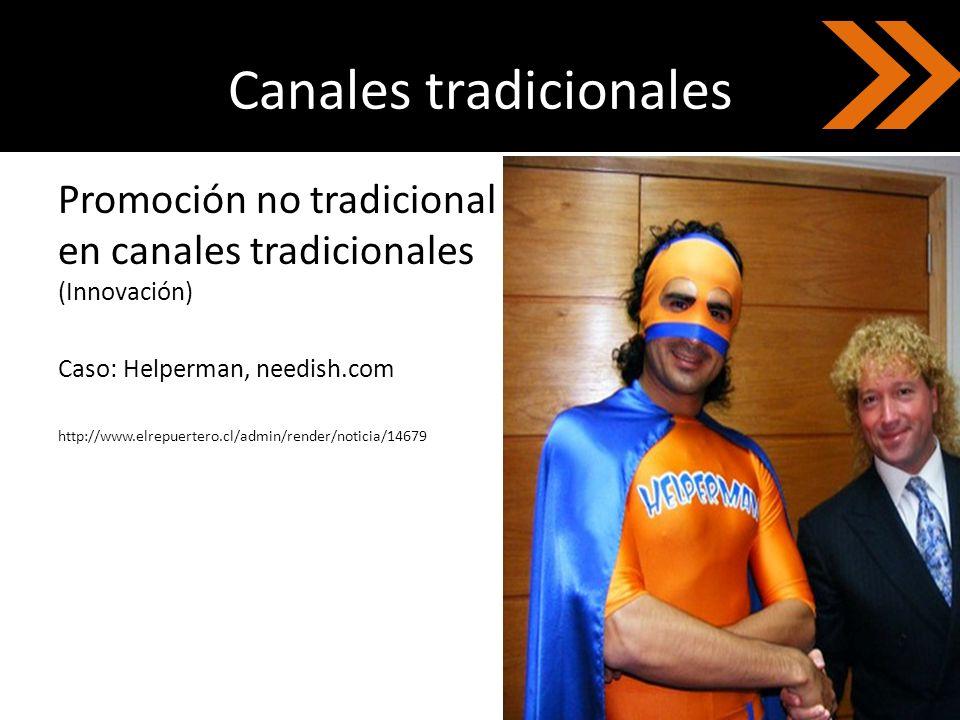 Canales tradicionales
