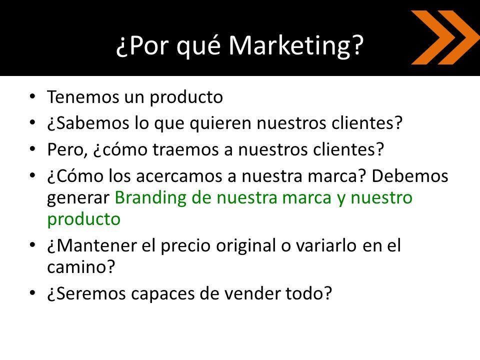 ¿Por qué Marketing Tenemos un producto