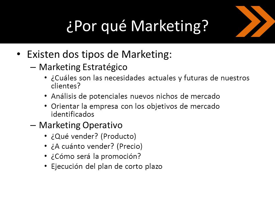 ¿Por qué Marketing Existen dos tipos de Marketing: