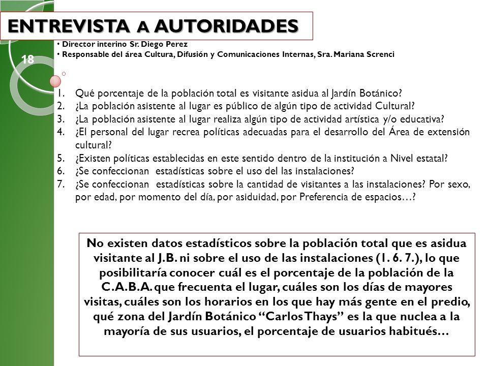 ENTREVISTA A AUTORIDADES
