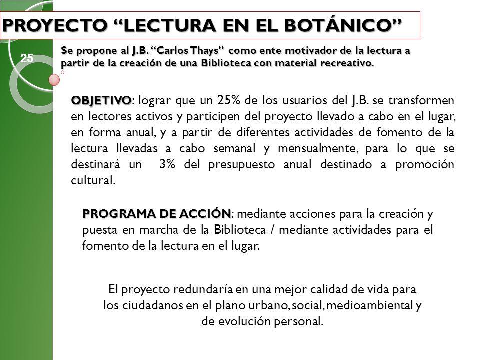 Proyecto Lectura en el Botánico