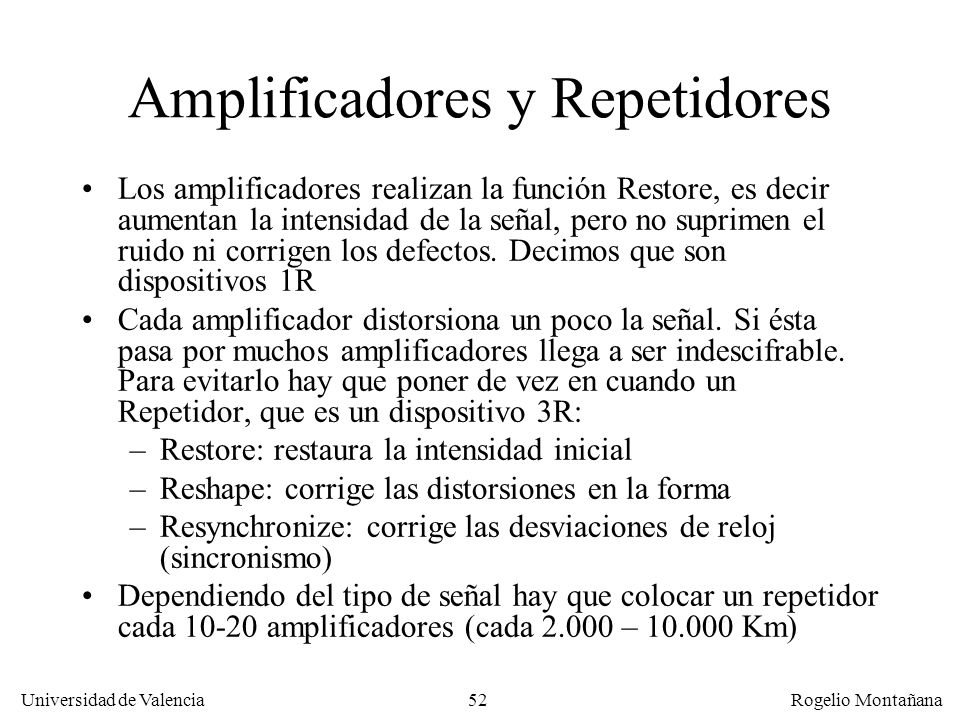 Amplificadores y Repetidores