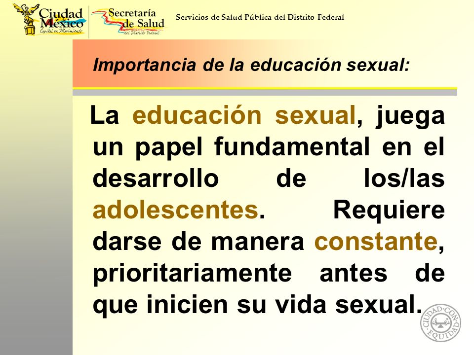 Importancia de la educación sexual: