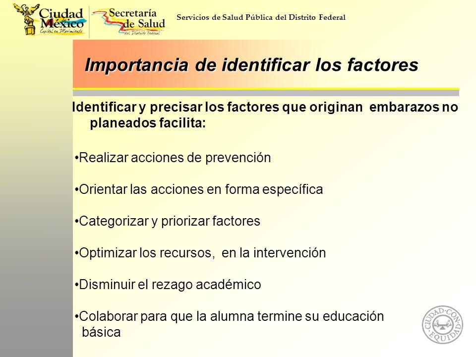 Importancia de identificar los factores