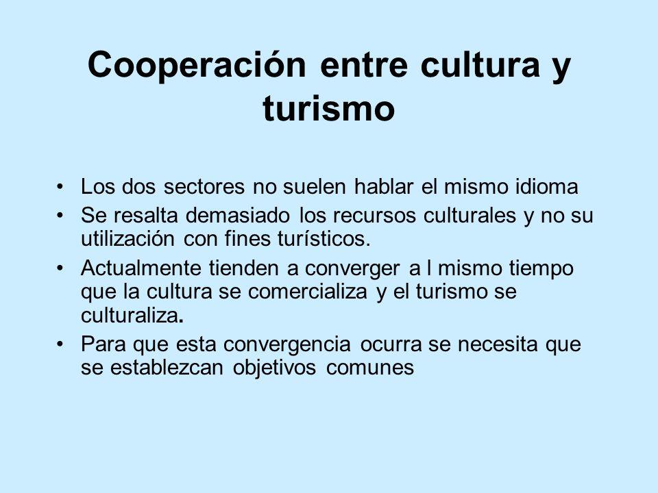 Cooperación entre cultura y turismo