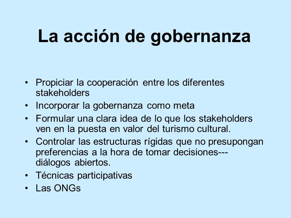 La acción de gobernanza
