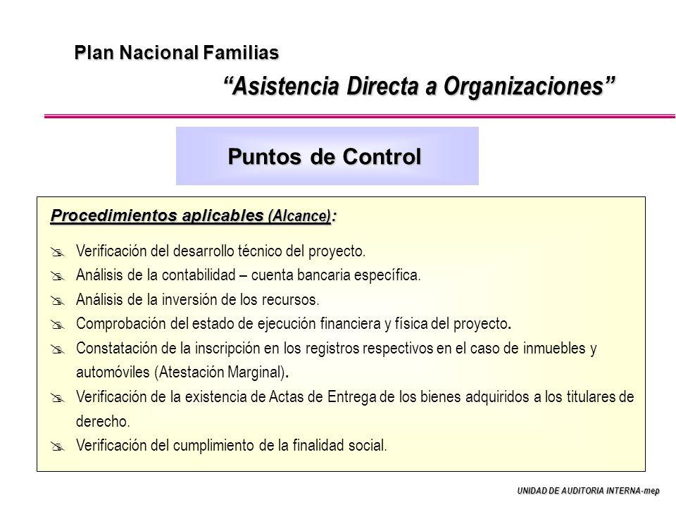 Asistencia Directa a Organizaciones