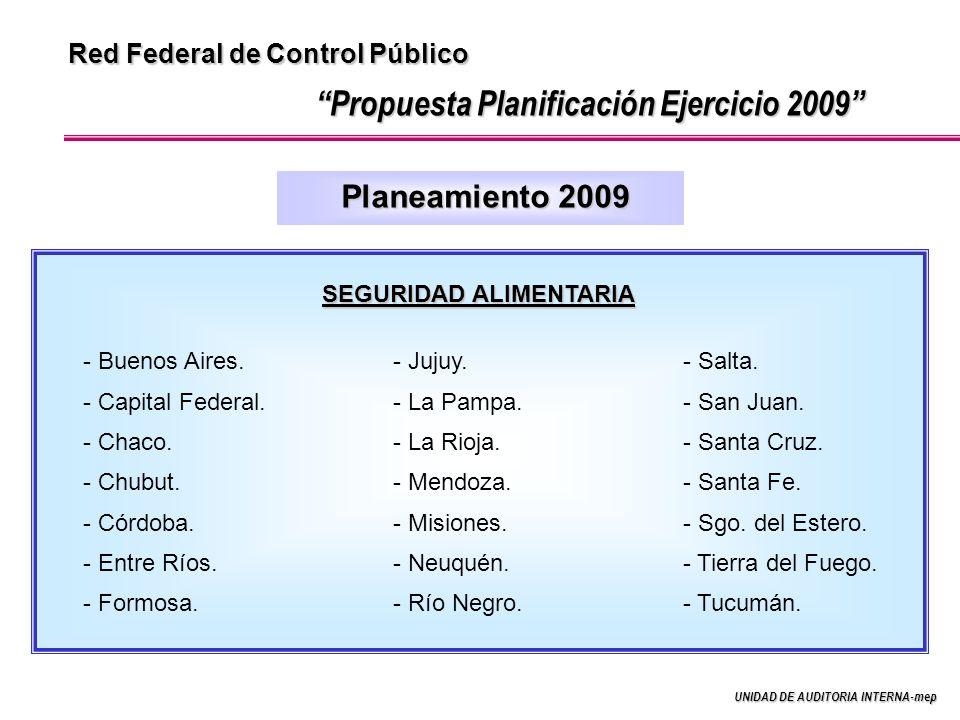 Propuesta Planificación Ejercicio 2009