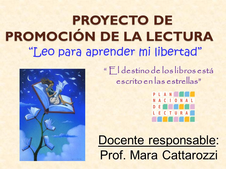 PROYECTO DE PROMOCIÓN DE LA LECTURA