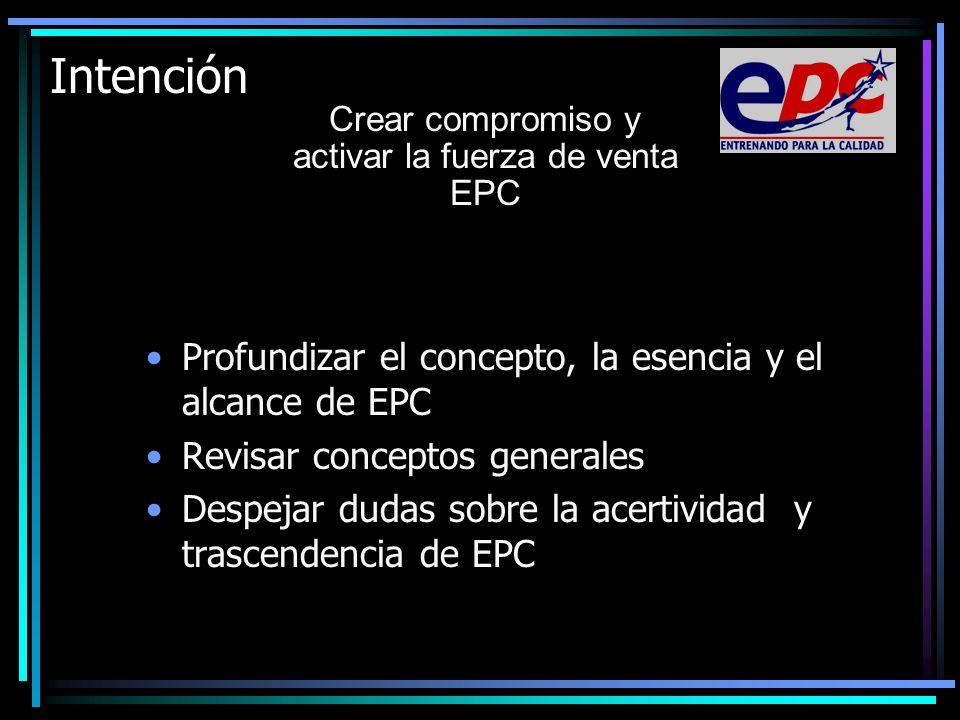 Crear compromiso y activar la fuerza de venta EPC