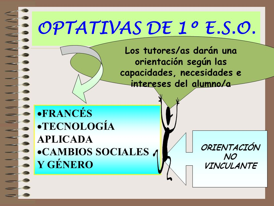OPTATIVAS DE 1º E.S.O. FRANCÉS TECNOLOGÍA APLICADA