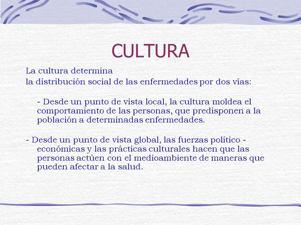 CULTURA La cultura determina