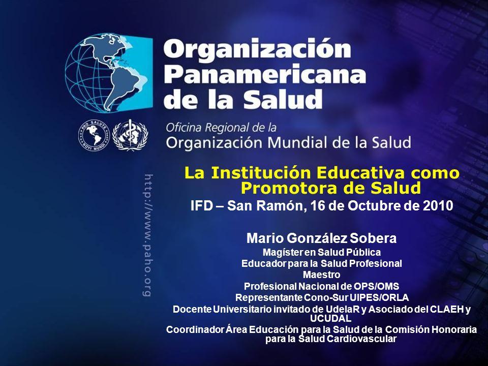 La Institución Educativa como Promotora de Salud
