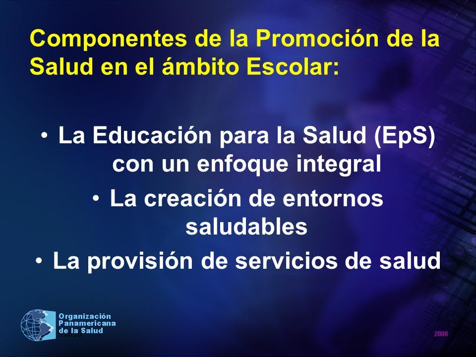 Componentes de la Promoción de la Salud en el ámbito Escolar: