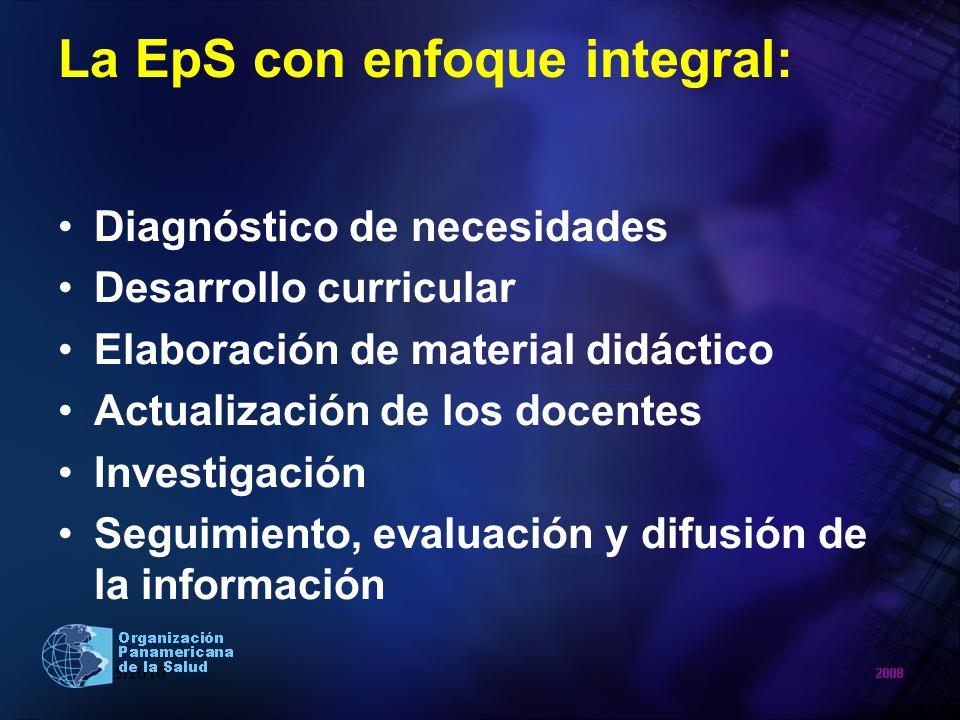 La EpS con enfoque integral: