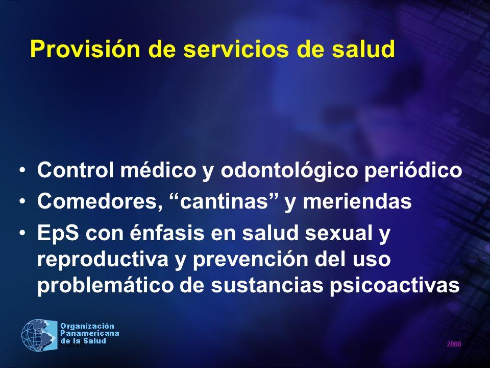 Provisión de servicios de salud