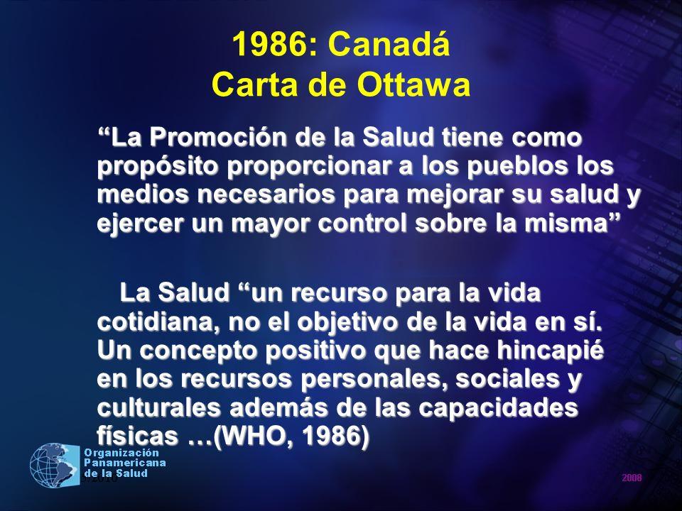 1986: Canadá Carta de Ottawa