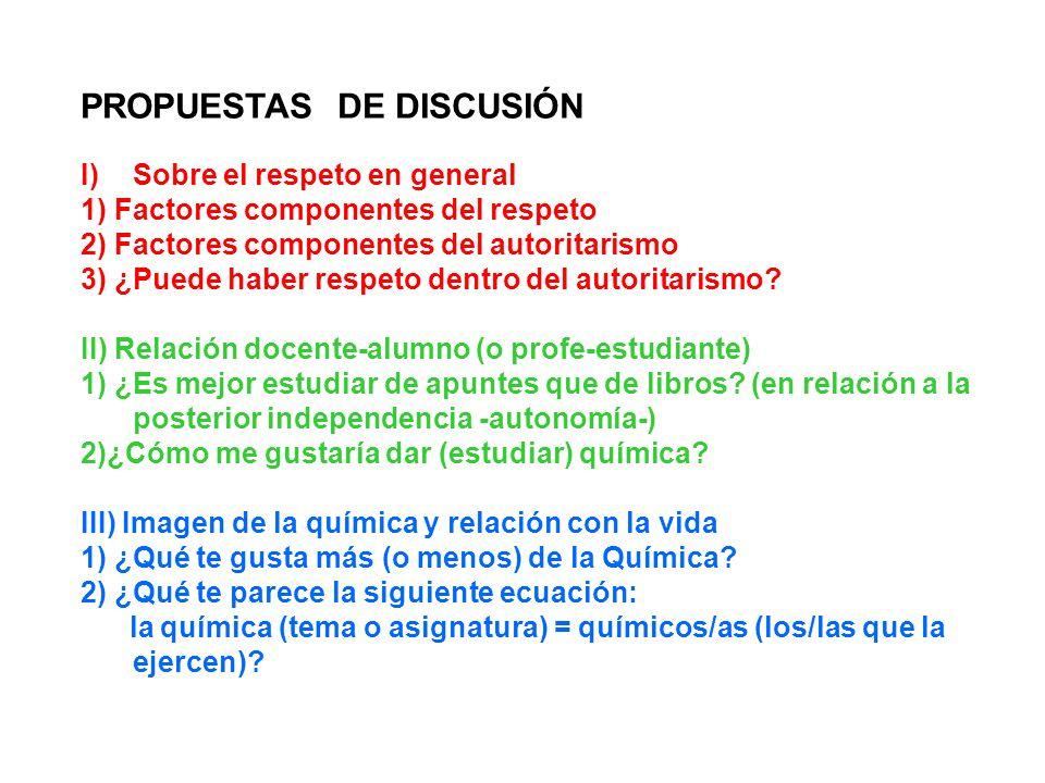 PROPUESTAS DE DISCUSIÓN