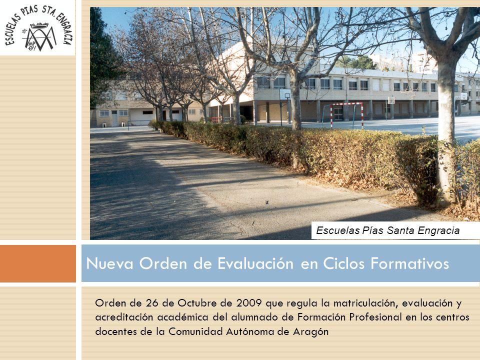 Nueva Orden de Evaluación en Ciclos Formativos