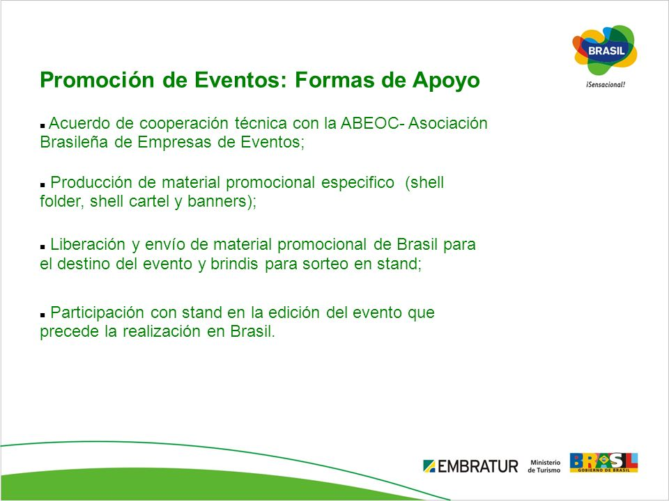 Promoción de Eventos: Formas de Apoyo