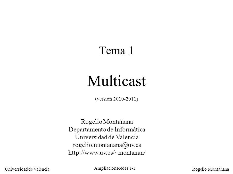 Tema 1 Multicast (versión 2010-2011)
