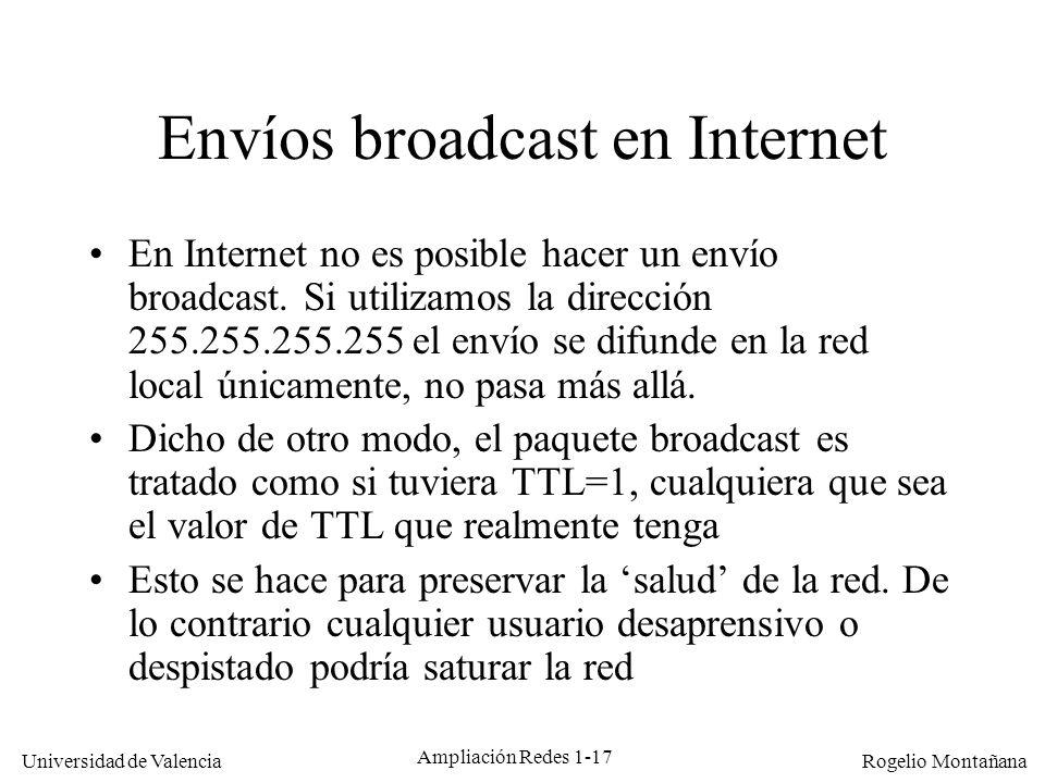 Envíos broadcast en Internet