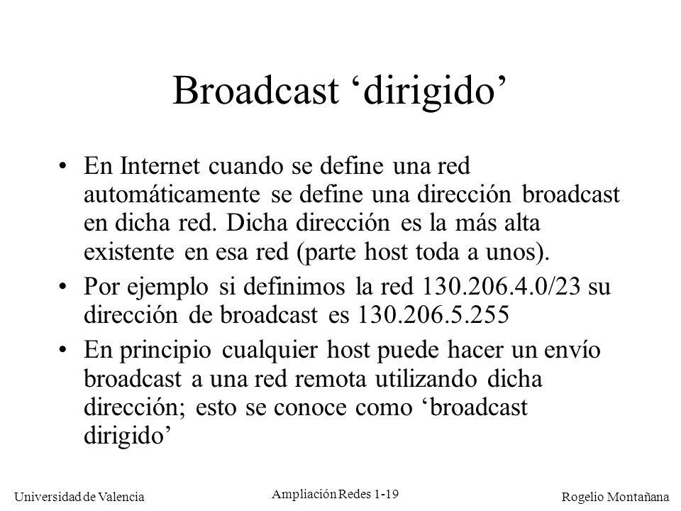 Multicast Broadcast 'dirigido'