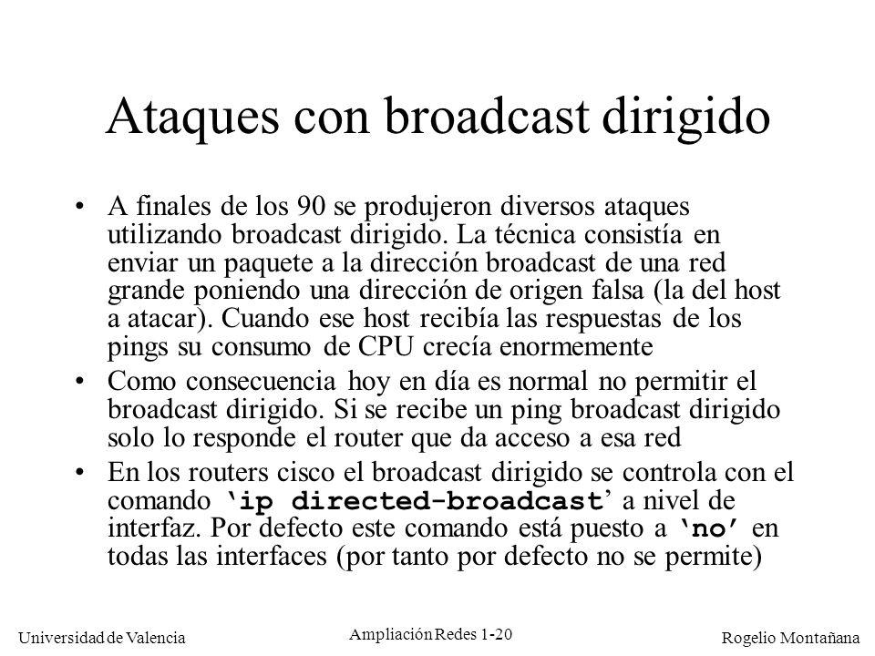 Ataques con broadcast dirigido