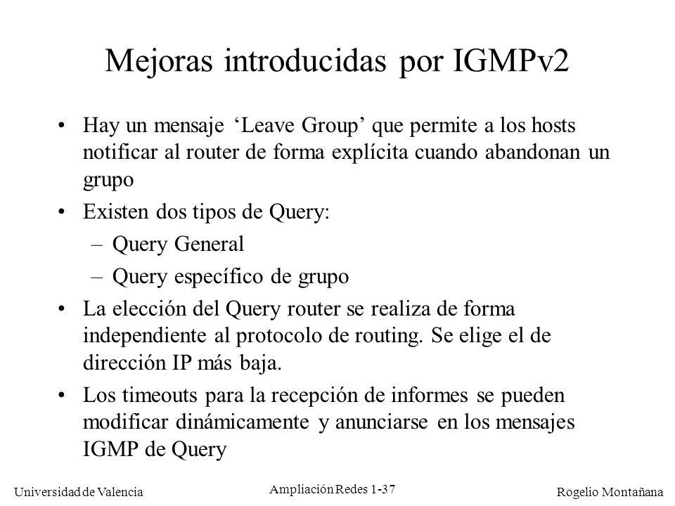 Mejoras introducidas por IGMPv2