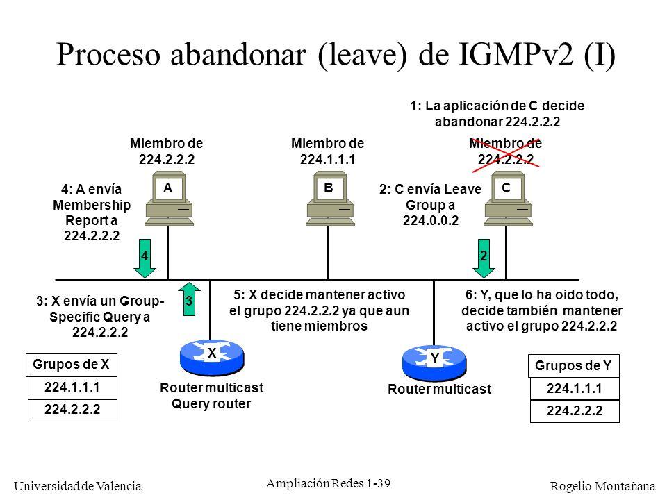 Proceso abandonar (leave) de IGMPv2 (I)