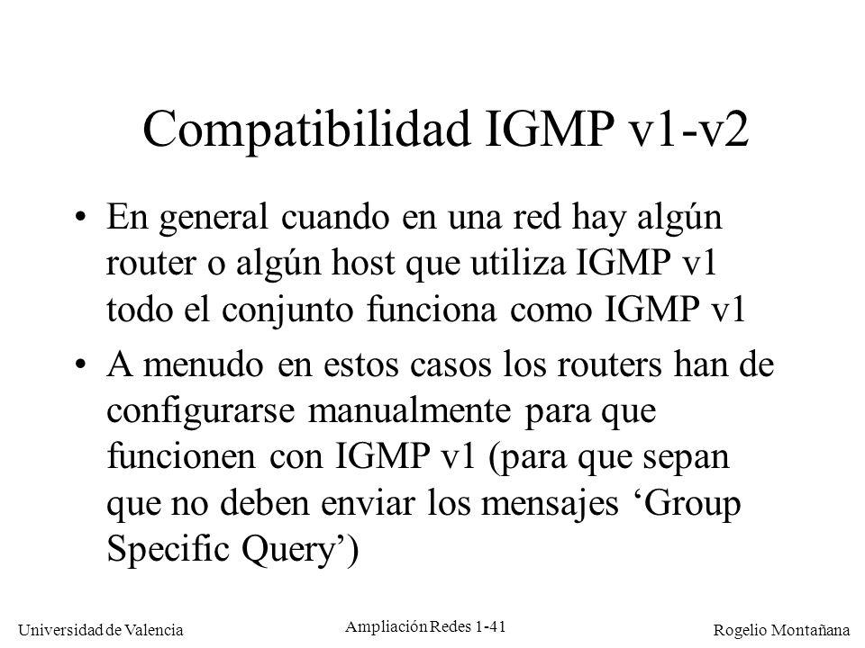 Compatibilidad IGMP v1-v2