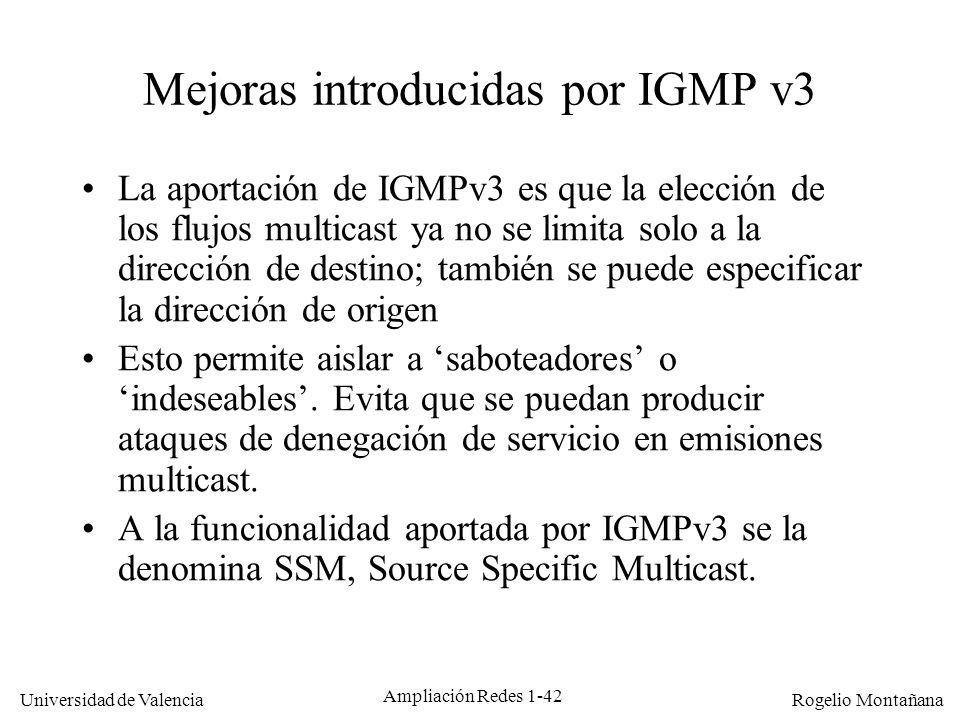 Mejoras introducidas por IGMP v3