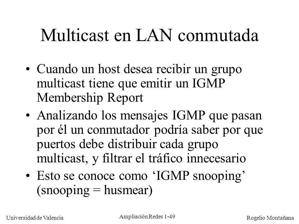 Multicast en LAN conmutada