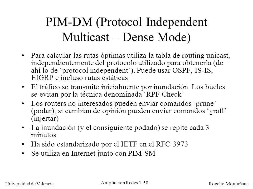 PIM-DM (Protocol Independent Multicast – Dense Mode)