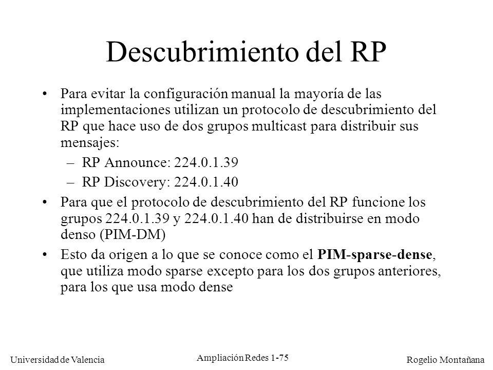 Multicast Descubrimiento del RP.