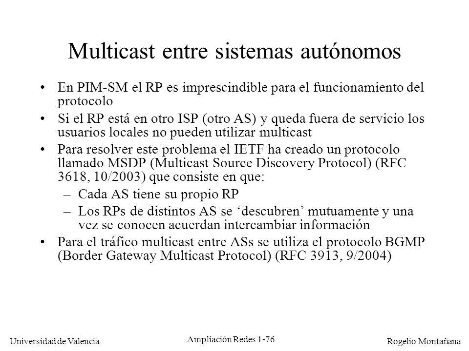 Multicast entre sistemas autónomos