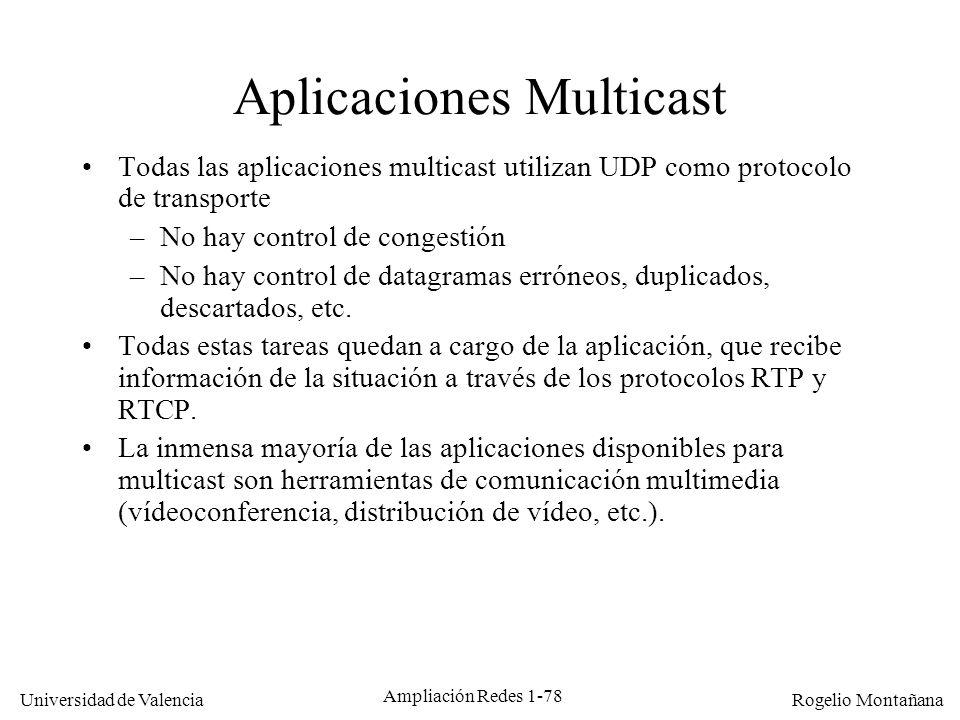 Aplicaciones Multicast